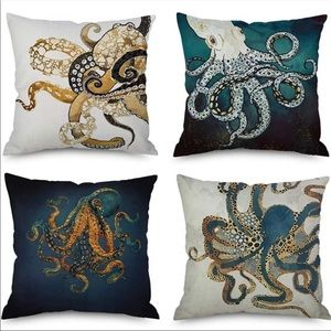 Marine Octopus Squid Sea Pillow Covers